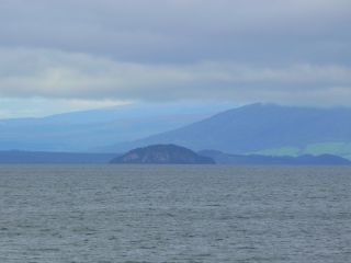 Mountains and Lake Taupo