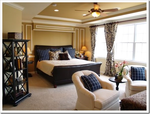 Black and Blue Master Bedroom