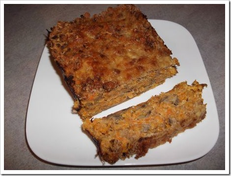 Carrot and Mushroom Loaf
