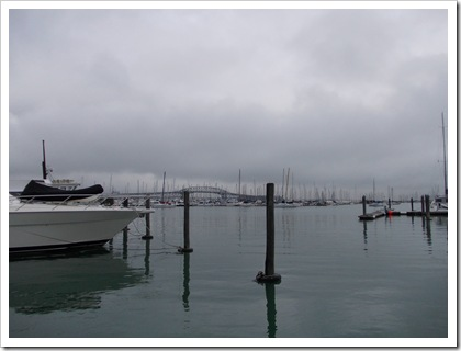 View from Z Pier, Auckland Harbor Bridge