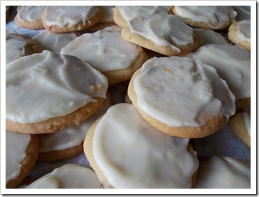 Cranberry Biscuits with Orange Frosting