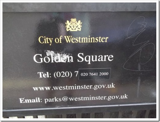 Golden Square Sign