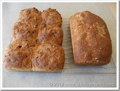 Pull Apart Rolls & Loaf of Bread