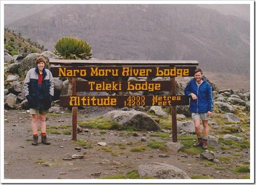 Mt Kenya, camp after vertical blog