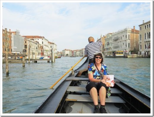 Me in a Traghetto on the Grand Canal