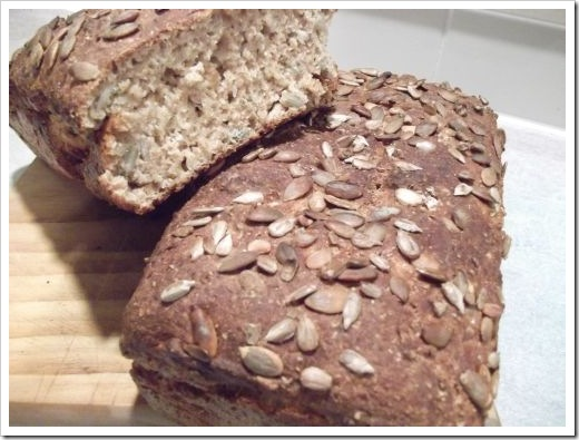 No Knead Seed Bread