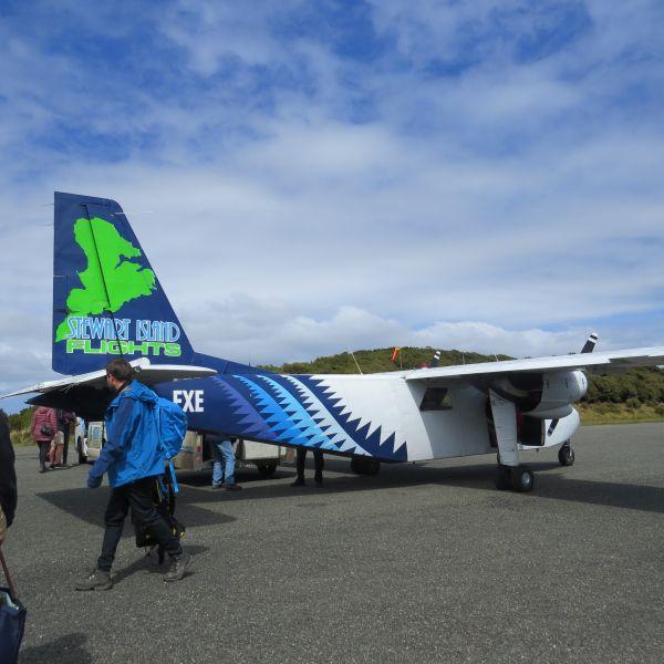 Plane at Stewart Island