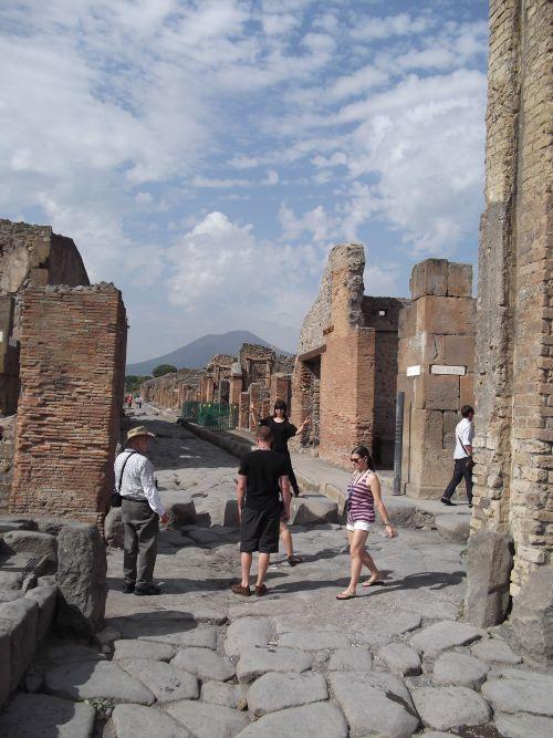 Main street in Pompeii