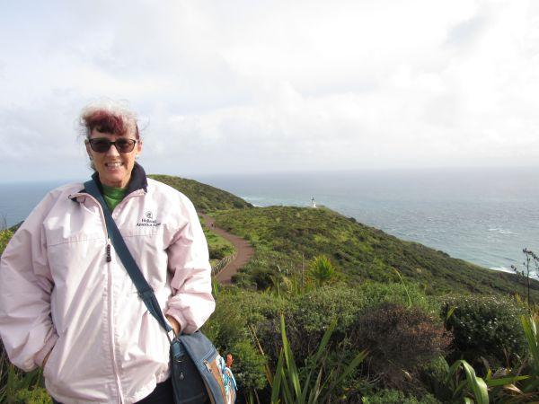Shelley at Cape Reinga