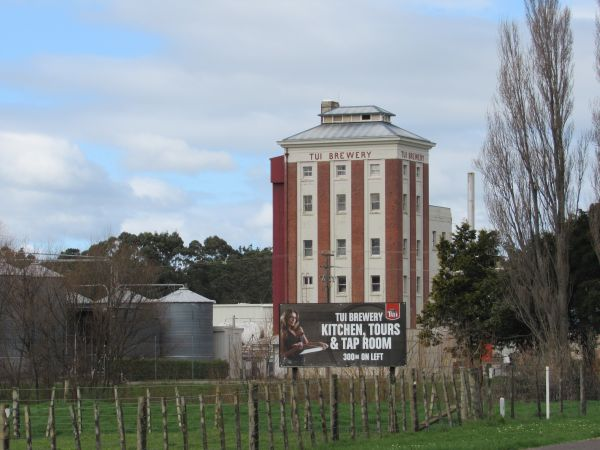 A view of the iconic Tui Brewery