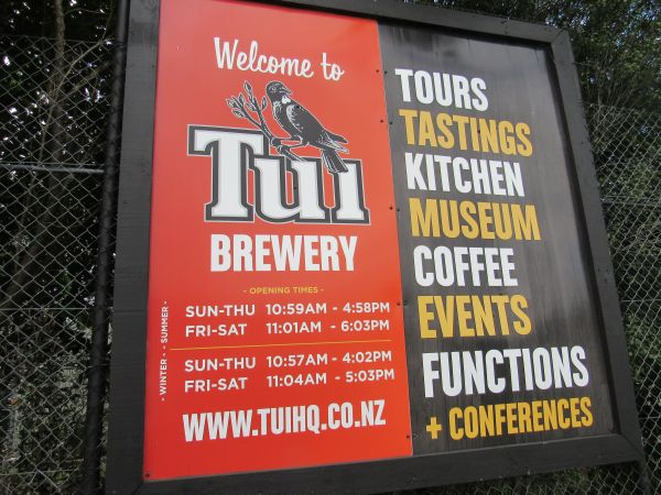 Tui Brewery Sign