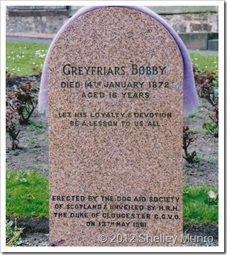 Headstone, Greyfriars Bobby, Edinburgh