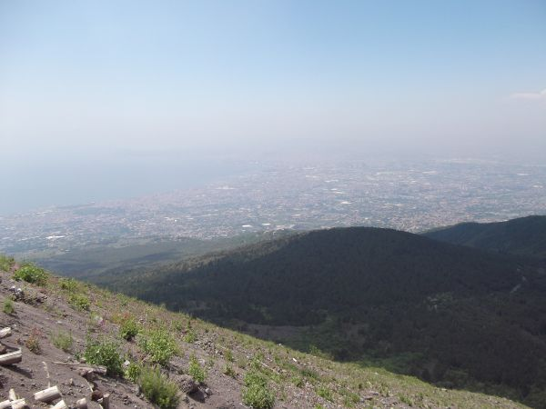 View from top of Mt Vesuvius
