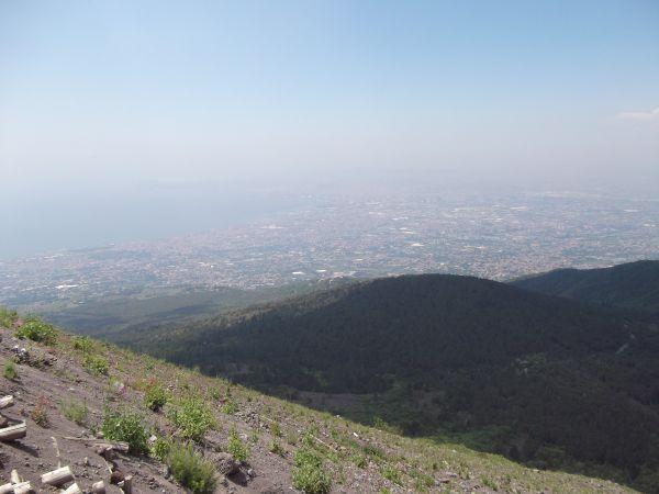 View from top of Mt Vesuvius