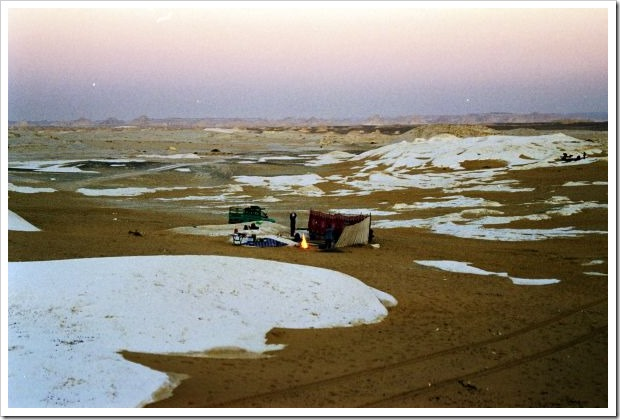 White Desert Campsite