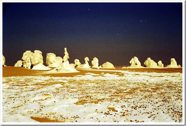 White Desert Night Formation