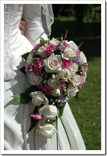 Bouquet and bride